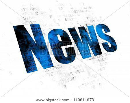 News concept: News on Digital background