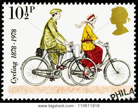 Britain Cycling Postage Stamp