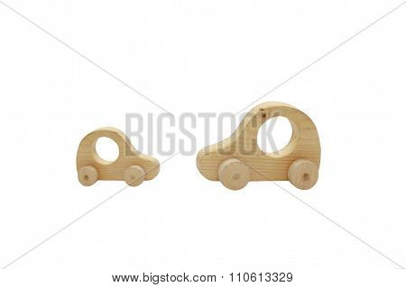 wooden toy passenger cars
