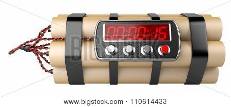 Bomb With Digital Clock Timer
