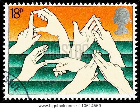 Britain Sign Language Postage Stamp