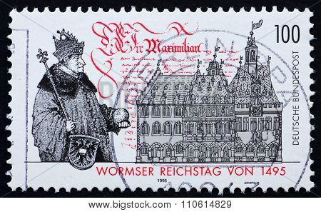 Postage Stamp Germany 1995 Diet Of Worms