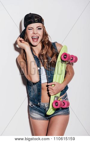 She Loves Skateboarding!