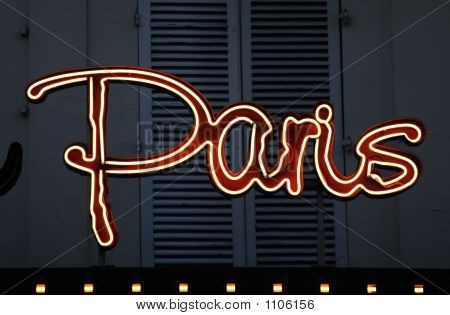 Paris Neon Sign