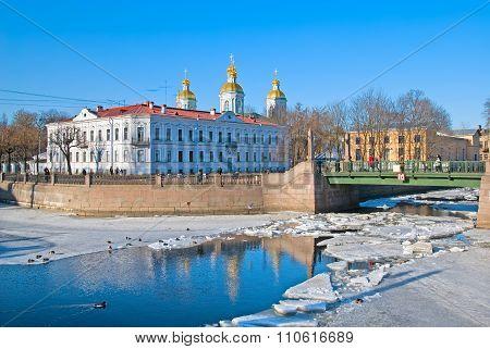 St. Nicholas Naval Cathedral. Saint-Petersburg. Russia