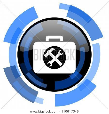 toolkit black blue glossy web icon