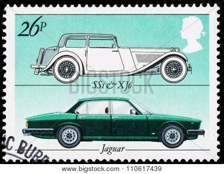 Britain Motor Car Postage Stamp