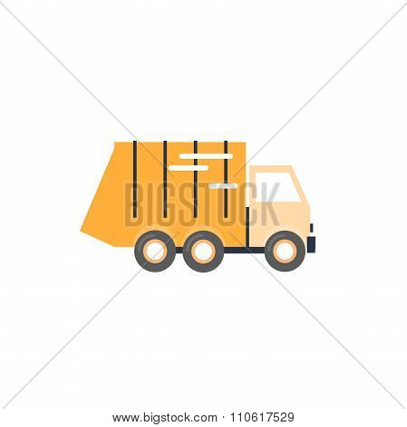 Garbage Truck on isolated background.
