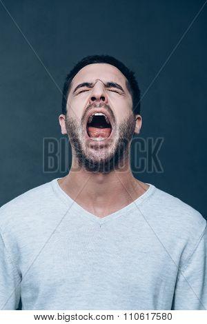 Man Shouting.