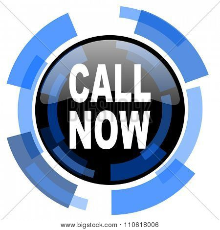call now black blue glossy web icon