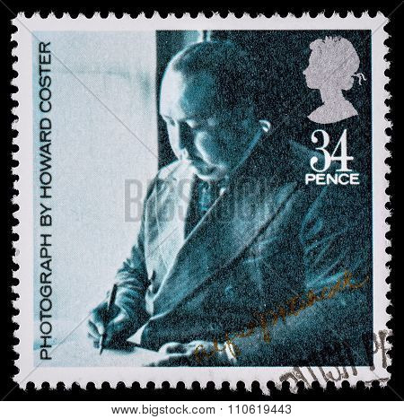 Britain Alfred Hitchcock Film Postage Stamp