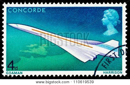 Britain Concorde Postage Stamp