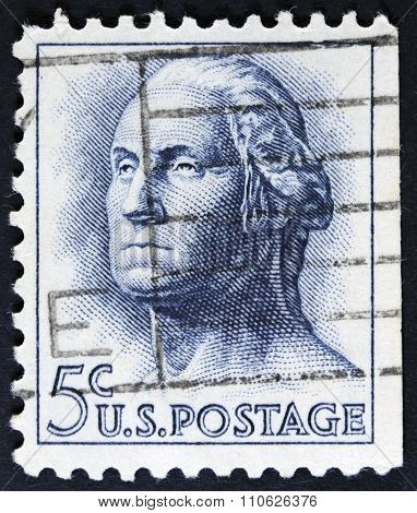 Former president of the usa on a stamp