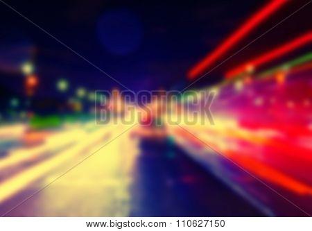 France Blur Background Streetlights Grunge Vintage