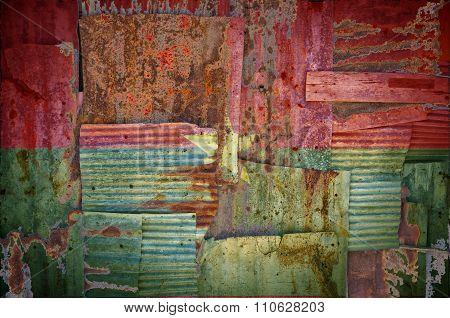 Corrugated Iron Burkina Faso Flag