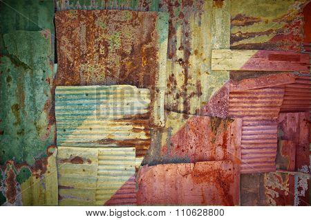 Corrugated Iron Congo Brazzaville Flag