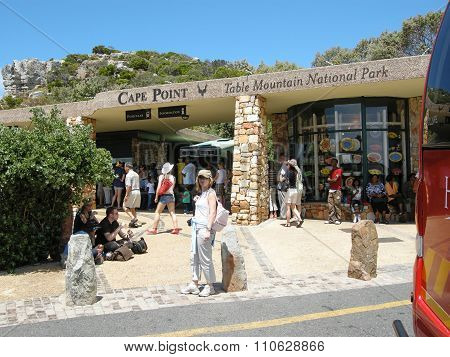 Tourists Visit Cape Point, South Africa.