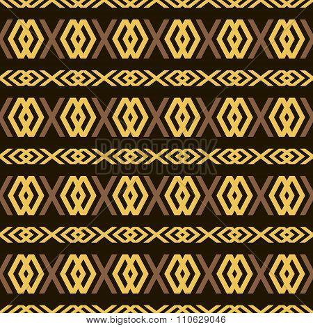 Seamless Pattern Of Elegant Openwork Lattice In Golden Color
