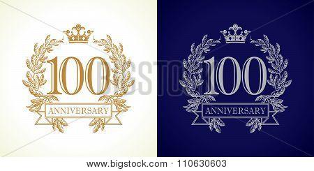 100 anniversary luxury logo.