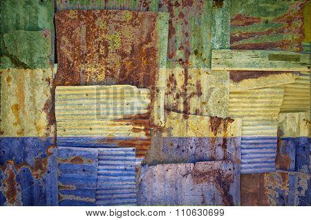 Corrugated Iron Gabon Flag