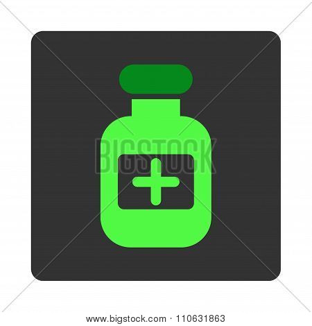 Medicine Container Flat Button