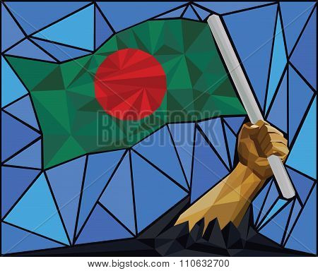 Raising The National Flag Of Bangladesh