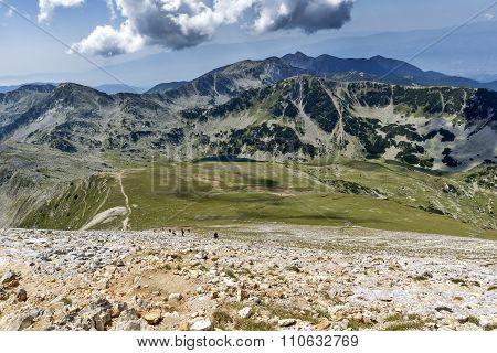 Panoramic view to Sinanitsa Peak and Vlahini Lakes