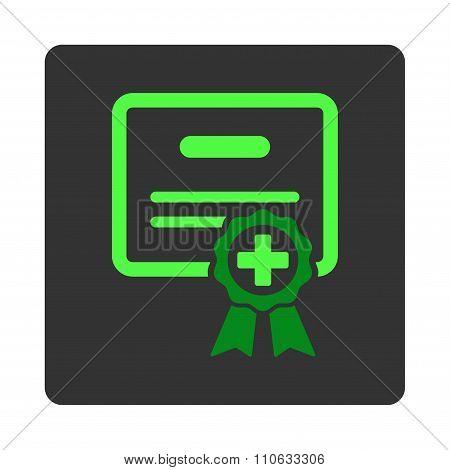 Medical Certificate Flat Button
