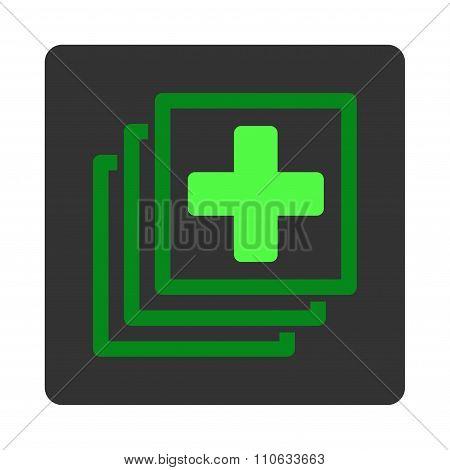 Medical Docs Flat Button