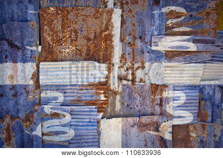 Corrugated Iron Martinique Flag