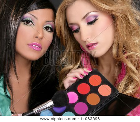Eyeshadow Makeup Palette Brush Fashion Girls