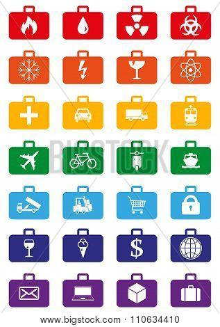 Logistics Services Colored Icons Set