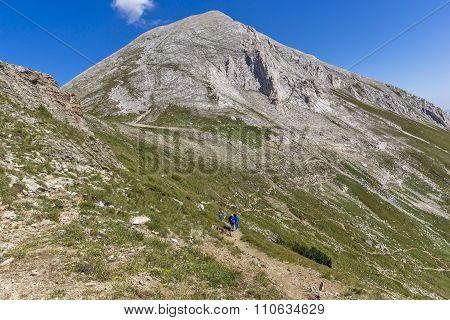 Amazing view of Vihren Peak,  Pirin Mountain