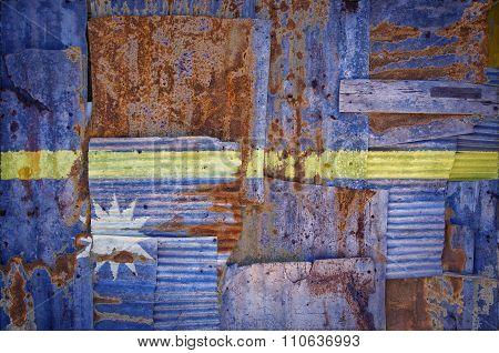 Corrugated Iron Nauru Flag