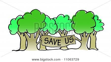 Save The Trees Illustration