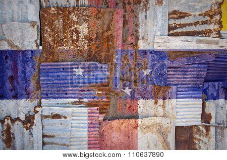 Corrugated Iron Netherlands Antilles Flag