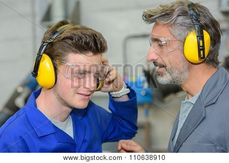 testing the earmuffs