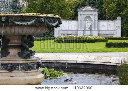 Volksgarten Park And Monument Poet Franz Grillparzer