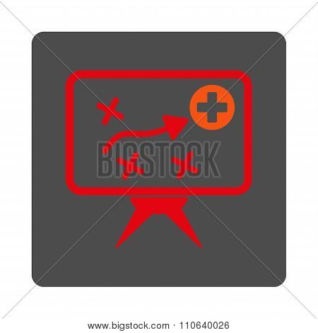 Health Strategy Flat Button
