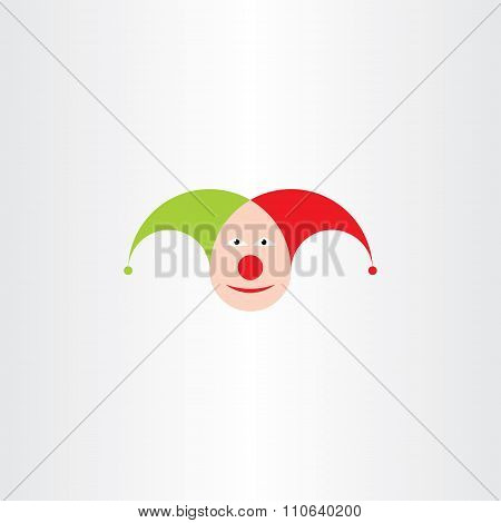 Jester Head Vector Icon Symbol