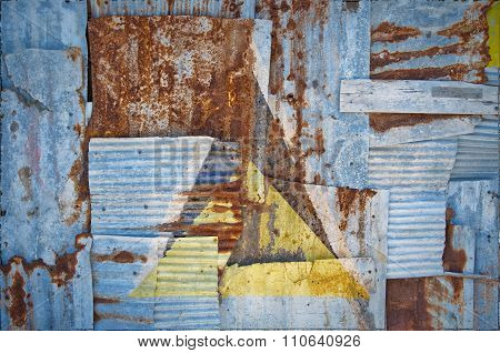 Corrugated Iron Saint Lucia Flag
