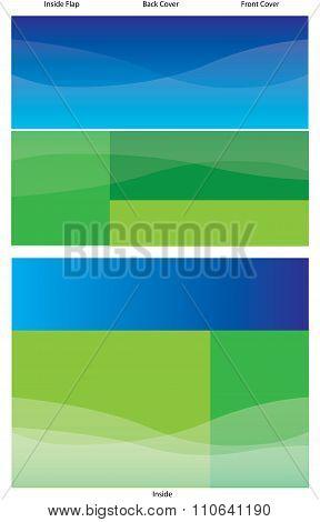 Blue Green Bifold Brochure Background Template