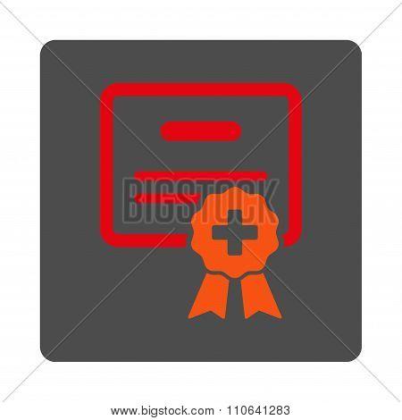 Medical Diploma Flat Button