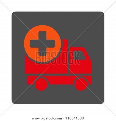 Medical Shipment Flat Button