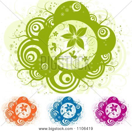 Abstract Floral Element For Design, Vector