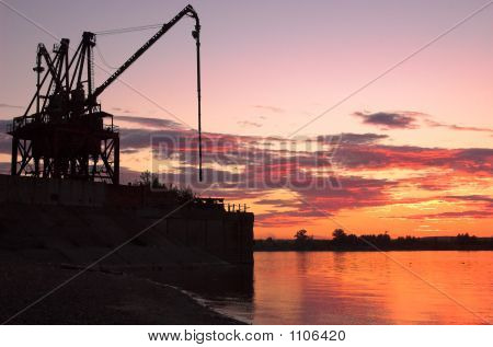 Crane On Riverside
