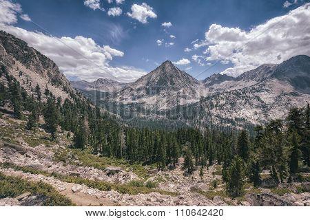 Landscape In The Sierra Nevada Mountains