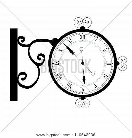 Clock Ancient Black Vector