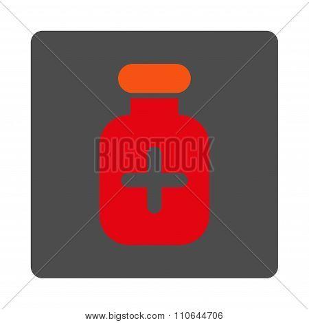 Medication Tube Flat Button