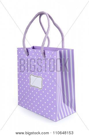 a shopping bag isolated on white background